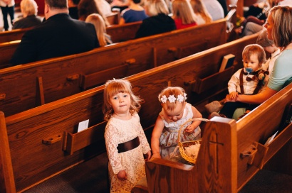 Small Children at the Wedding Ceremony, Candid Portrait