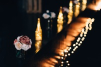 Moody Picture Flower Bouquet at Wedding Reception