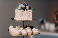 Moody Picture Of Wedding Cake at Wedding Reception