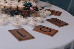 Moody Picture Of Cake Decorations at Wedding Reception