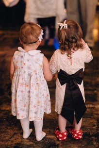 Two Little Girls At Wedding Reception