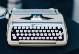 Typewriter Decoration at Wedding