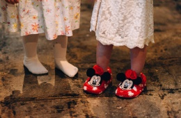 Cute Shoes at Wedding Reception