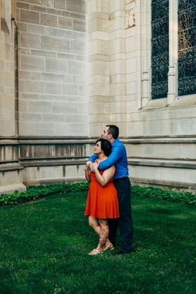 Stoic Portrait of Couple at Heinz Chapel