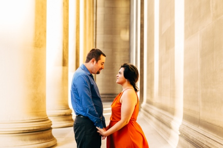 Cute Portrait Of couple looking at each other passionately