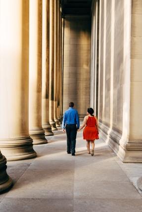 Walking Beneath Columns