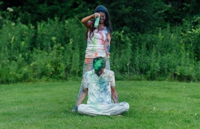 Throwing Paint on top of Fiance' head
