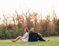 Engagement Session in Golden Hour in Hartwood Mansion