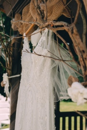 Portrait of wedding dress