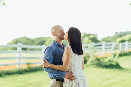 Portrait of Couple looking at each other and Kissing
